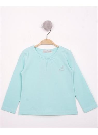 Toontoy Toontoy Kız Çocuk Göğsü Princess Nakışlı T-Shirt Yeşil